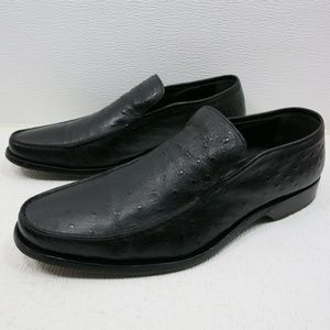 Via Spiga Ostrich Leather Dress fashion Loafers 11